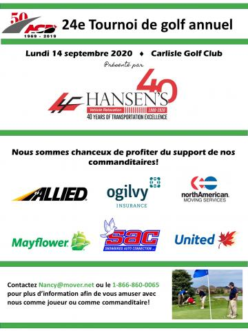 Golf 2020 Thank you sponsors